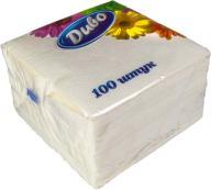 """/Салфетки бумажные """"Диво"""", 330*330, 100шт., в п/п упак., белый"""