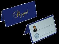 Настольная табличка РЕЗЕРВ двухсторонняя, винил, т.-синий