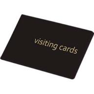 Визитница для 24 визиток, PVC, черная