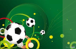 #@Подкладка д/письма Футбол с карманом, 665x430мм, PVC