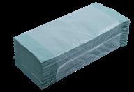 $/Полотенца макулатурные V-образные.,160шт., зеленый