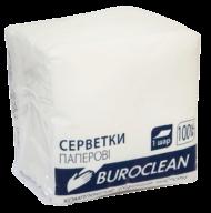 $/Салфетки бумажные BuroClean, 240*240, 100шт., в п/п упак., белый