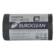 /Пакеты для мусора 35л/50шт, черные BuroClean ECO