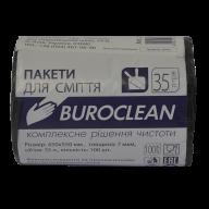 /Пакеты для мусора 35л/100шт, черные BuroClean ECO