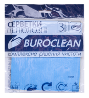 /Салфетки целлюлозные влаговпитывающие Buroclean 15,5х15,5, 3 шт/уп