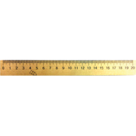 /Линейка деревянная 20 см (шелкография)