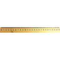 /Линейка деревянная 25 см (шелкография)