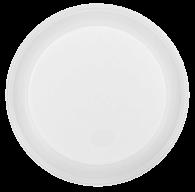 /Тарелка одноразовая, d-205 мм, белая, 1-секц., 5,5-6 г, 100шт/уп