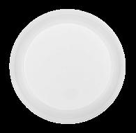 /Тарелка десертная одноразовая, d-165 мм, белая, 1-секц., 4 г, 100шт/уп