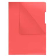 Папка-уголок А4, 180мкм, красный