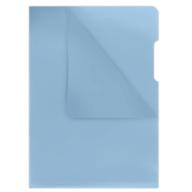 Папка-уголок А4, 180мкм, синий