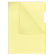Папка-уголок А4, 180мкм, желтый