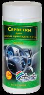 */Салфетки для авто (панель приборов) 100шт., влажные, в банке