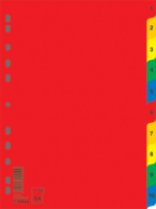Цифровой индекс - разделитель А4, 10 поз., цветной