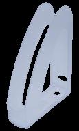 """/Лоток пласт. д/бумаг вертик. """"Радуга"""" с передней стенкой, JOBMAX, прозрачный"""