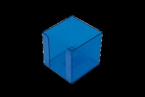 /Бокс для бумаги 90х90х90мм, JOBMAX, голубой