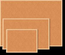 $Доска пробковая JOBMAX, 60x90см, деревянная рамка