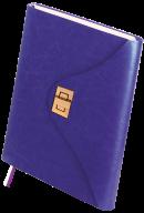 Ежедневник недатированный FOREVER, A5, 288 стр. фиолетовый