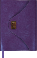 @Ежедневник недат. FOREVER, A5, 288 стр. фиолетовый