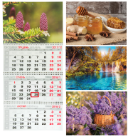 /Календарь настенный квартальный на 2018г. (3 пружины)