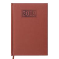 Ежедневник дат. 2019 GENTLE(Torino), A5, 336 стр. коричневый