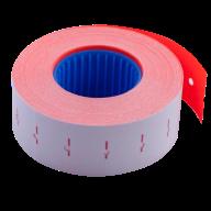 Ценник 22x12 мм (1000 шт, 12 м), прямоугольный, внутренняя намотка, красный