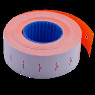 Ценник 22x12 мм (1000 шт, 12 м), прямоугольный, внутренняя намотка, оранжевый