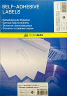 ^$Этикетки самоклеящиеся 16 шт., 105х37,1мм (100 листов) для струйных принтеров