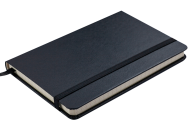 Блокнот деловой STRONG, LOGO2U, 95x140 мм, 80 л., клетка, обложка из искусственной кожи, черный