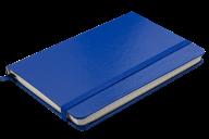 @Блокнот деловой STRONG, LOGO2U, 95x140 мм, 80 л., клетка, обложка из искусственной кожи, темно-сини