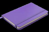 Блокнот деловой STRONG, LOGO2U, 95x140 мм, 80 л., клетка, обложка из искусственной кожи, фиолетовый