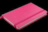 Блокнот деловой STRONG, LOGO2U, 95x140 мм, 80 л., клетка, обложка из искусственной кожи, розовый