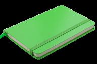 Блокнот деловой STRONG, LOGO2U, 95x140 мм, 80 л., клетка, обложка из искусственной кожи, салатовый