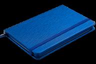Блокнот деловой INGOT, 95x140 мм, 80 л., клетка, обложка из искусственной кожи, синий