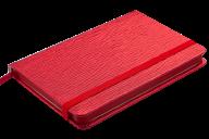 Блокнот деловой INGOT, 95x140 мм, 80 л., клетка, обложка из искусственной кожи, красный