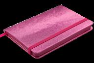 Блокнот деловой INGOT, 95x140 мм, 80 л., клетка, обложка из искусственной кожи, розовый