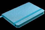 Блокнот деловой INGOT, 95x140 мм, 80 л., клетка, обложка из искусственной кожи, голубой
