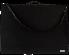 @Папка-портфель пласт. PROFESSIONAL с 9-ю кольцами, A1, черный