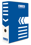 $/Бокс для архивации документов 80мм, синий