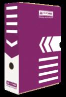 $/Бокс для архивации документов 80мм, фиолетовый