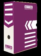 $/Бокс для архивации документов 100мм, фиолетовый