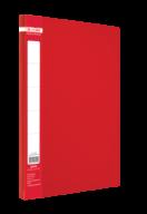 ^$Папка пластиковая  боковым прижимом, JOBMAX, A4, красная