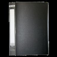 $Папка c 30 файлами А4 JOBMAX, черный