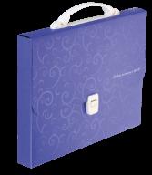 Портфель пласт A4/35мм, BAROCCO, фиолетовый