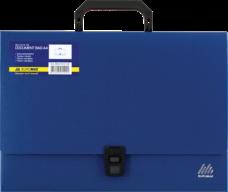 Портфель пласт A4/35мм, синий