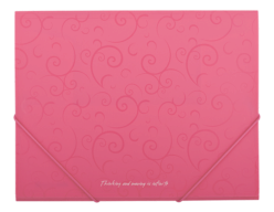 $Папка А5 на резинках, BAROCCO, розовый