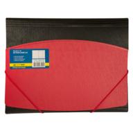 $Папка А4 на круглых резинках, двухцветная, красная