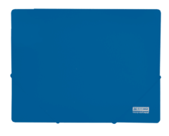 $Папка А4 на 2-х резинках, JOBMAX, синий