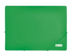 $Папка А4 на 2-х резинках, JOBMAX, зеленый