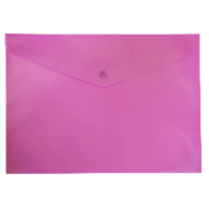 $Папка-конверт А4 на кнопке, матовая, непрозрачная, розовый